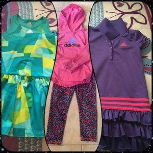 Bundle of 3 Adidas Girls Outfits, Sizes 4 & 5